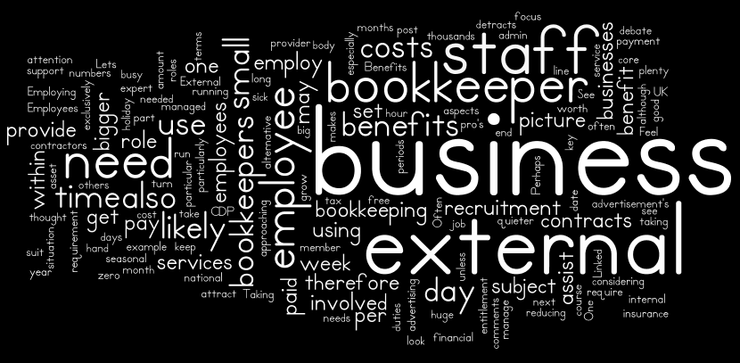 Why using an external bookkeeper makes sense